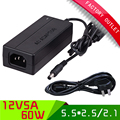 1SET desktop AC DC power adapter 12V 5A WITH AU PLUG AC CABLE, 5.5*2.5/2.1mm jack adapter