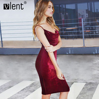 Vlent Elegnat Wine Red Velvet Dress Runway Sexy Off Shoulder Party Summer Dresses 2017 Quality Bodycon