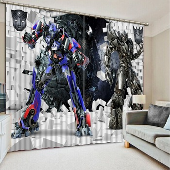 Children's style cartoon 3D Window Curtains For Bedding room Fashion 3d curtains Home Decoration