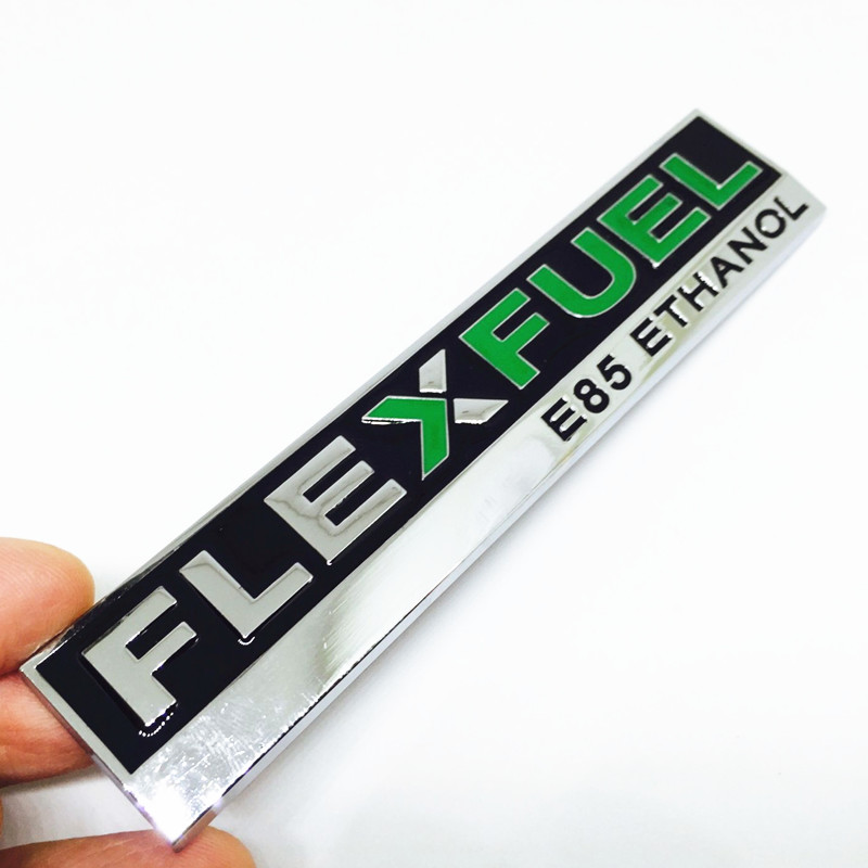 3D Metal FLEXFUEL E85 ETHANOL car-styling Emblem Stickers Badge Decal For ford focus 2 fiesta kuga ranger mondeo mk4 Explorer ouzhi for ford focus 2 3 mondeo fiesta f150 orange brown brand designer luxury pu leather front