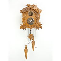 Retro Wooden Cuckoo Wall Clock Antique Style Bird Alarm Clock Watch Decoration Home Day Time Alarm Living Room