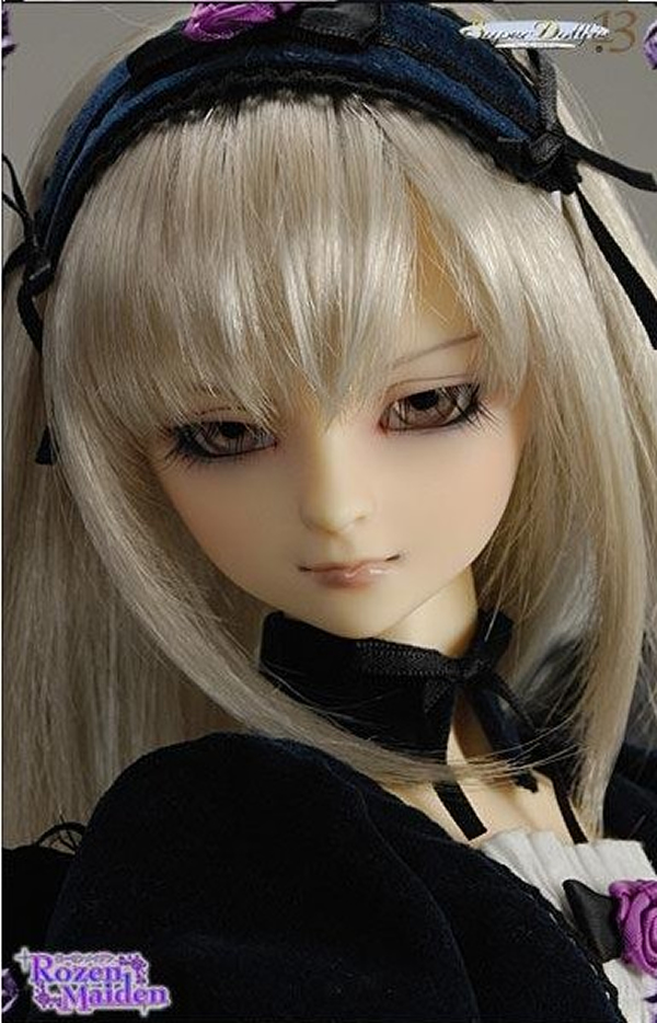 Full Set Free makeup&eyes included! Volks Suigintou top quality 1/3 bjd doll girl female manikin clothes wig boots gift sd