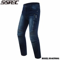 SSPEC New Men's Fashionable Comfort Jeans Motorcycle Locomotive Breathable Racing Pants Drop Protection