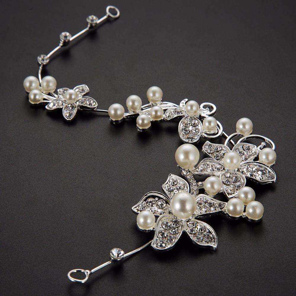 HTB15RpxOpXXXXatXFXXq6xXFXXXg Luxury Silver Rhinestone Pearl Jewel Flower Hair Accessory For Women