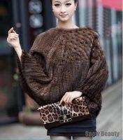 Female fashion genuine knitted mink fur ponchos wrape luxury natural mink fur shawl scarf china retail wholesale genuine fur