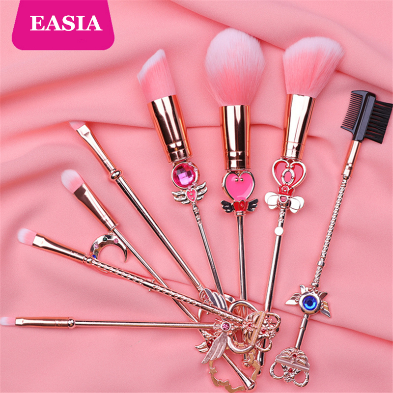 Beauty & Health Candid Cardcaptor Sakura Makeup Brush 8pcs Set Metal Magic Wand Powder Blush Concealer Eyeshadow Brush Kit Teen Girl Make Up Tool Demand Exceeding Supply