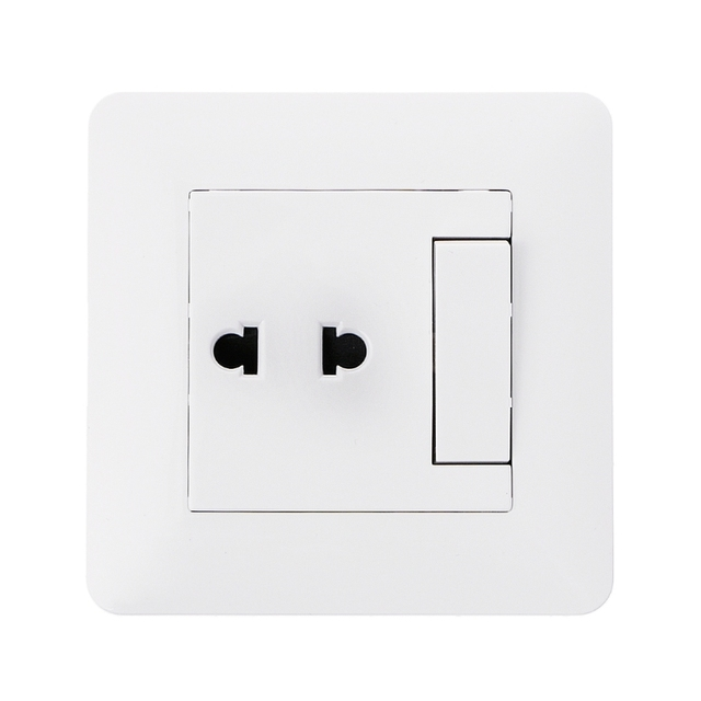 OOTDTY Wall Outlet 2 Hole Universal Power Socket With 1 Gang 2 Way ...