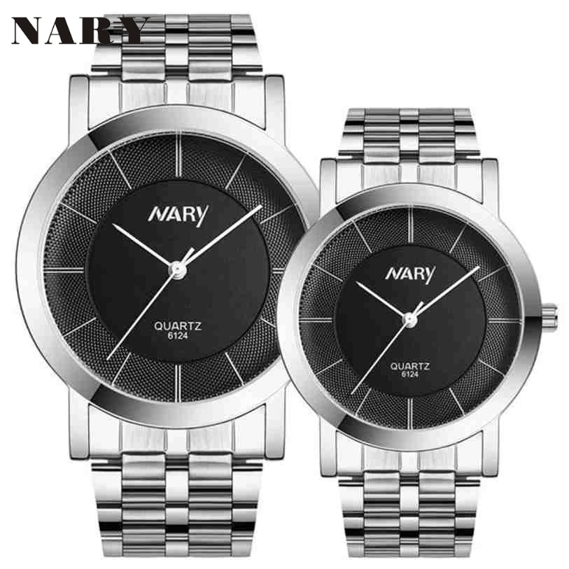 1 pair Men And Women Watch Single Quartz Stainless Steel Wrist Watches Gift Clock relogio feminino masculino relojes Fe20 carnival ceramic pair watch men and women 100