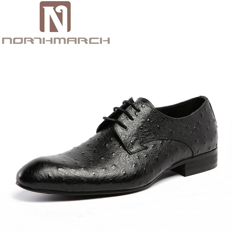 NORTHMARCH Classic Genuine Leather Mens Dress Shoes Men Lace-Up Business Shoes Brand Wedding Oxford Men Shoes Soulier Homme цена