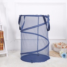 Top Up Collapsible Mesh Laundry Baskets Hamper Foldable Mesk Basket Cloth Buggy