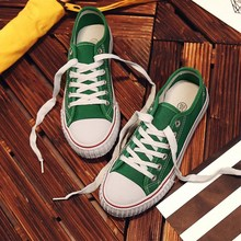 2018 new canvas shoes men lace-up casual flats shoes Spring autumn Simple fashion lovers shoes Breathable Comfortable Sneakers