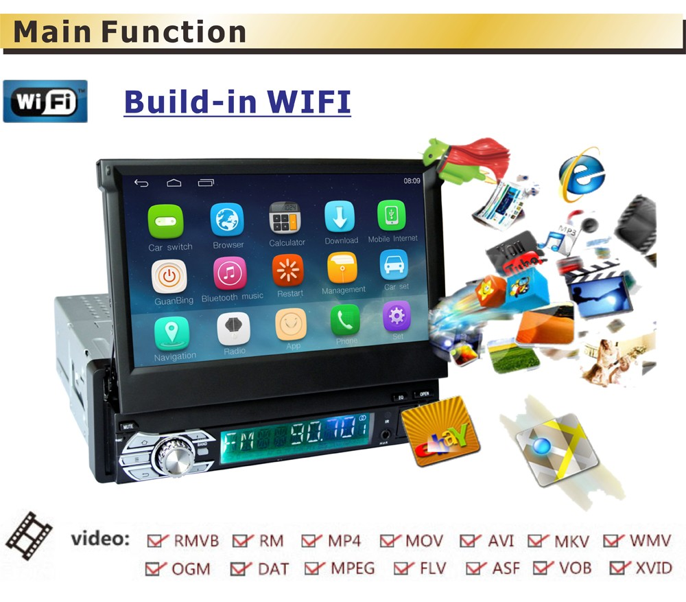 7 inch Capacitive Touch Screen Android 1 DIN Universal GPS Navigation Car Radio Stereo12