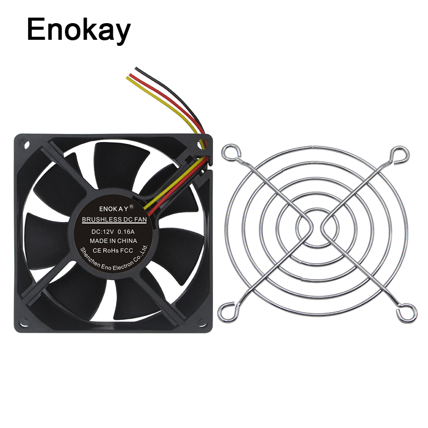 Enokay 2Piece 8CM Ultra Quiet Silent Cooling <font><b>Fan</b></font> <font><b>80mm</b></font> 25mm DC 12V for PC CPU Computer Chassis Case image
