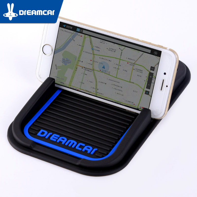 Silica Gel Anti-slip Mat Car Dashboard Sticky Pad Mobile Phone Pad Non-slip Car Gadget Interior Accessories Anti Slip Mat Black