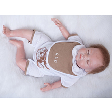 Reborn Baby Dolls 18 Inch Sleeping Silicone Doll Lifelike Newborn Babies Boy Realsitic Toy With Clothes Kids Birthday Xmas Gift
