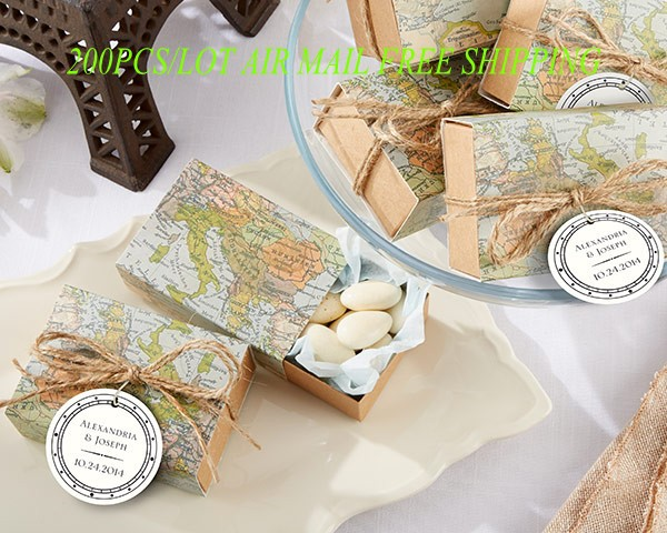 200pcslot travel and adventure theme wedding gift of around the 200pcslot travel and adventure theme wedding gift of around the world map favor box for candy bags and cake box free shipping in gift bags wrapping gumiabroncs Images