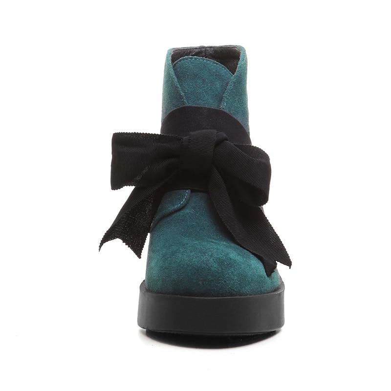 En Bowtie Chaussures Hiver Vache Talon Plate Furtado Matin Cheville De Mode Femme Carré Grey Arden Bottes Véritable forme 2017 green Cm Nouveau Courtes Pour Daim 8 18nYAt