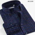 Smart Five Brand Clothing Shirt Men 2016 New Style Men's Casual Shirts Long Sleeve Cotton Patterns Plaid  Camisa Masculina 5XL