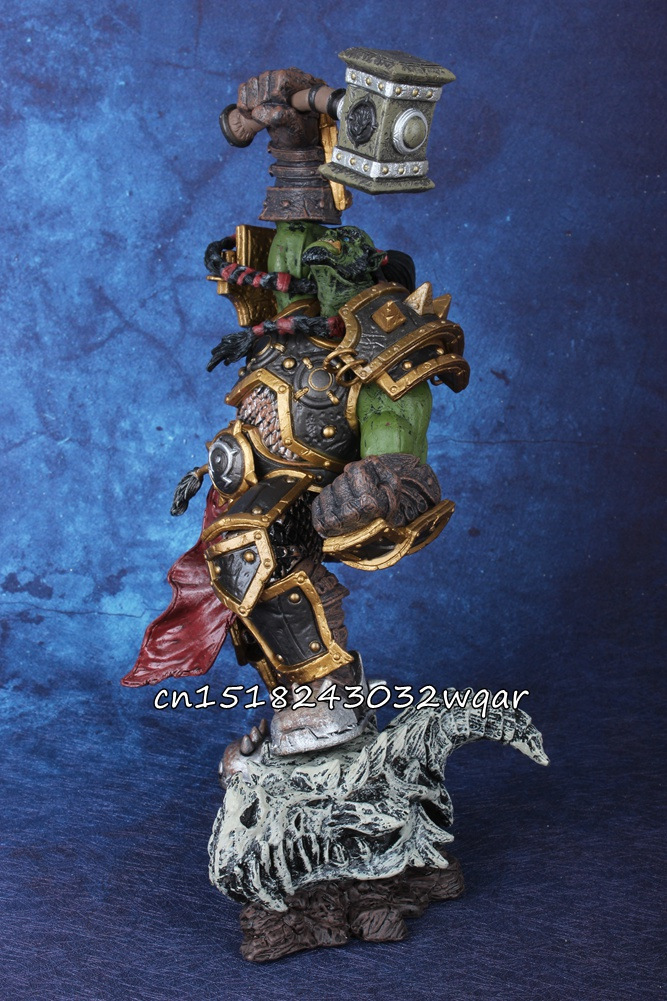 various wow pearl of pandaria WOW World of Orc Warchief Thrall Action Figure Collectible Statue Toy IN STOCK