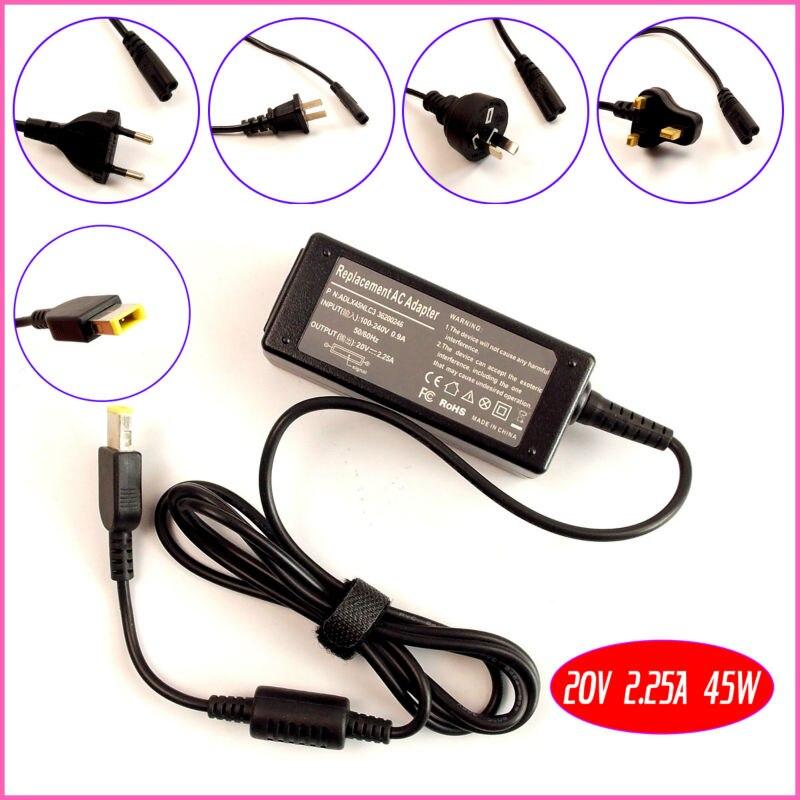 20 В 2.25a 45 Вт Тетрадь адаптер переменного тока Батарея Зарядное устройство для Lenovo Essential g505 G510 g50-30 g50-70 ноутбука Питание шнур