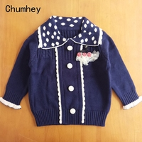 3 7T Little Girls Sweater Spring Autumn Full Sleeves Stars Printed Kids Pullovers Children Knitted Sweaters