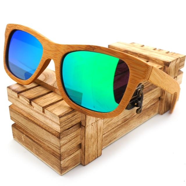 119a9d9acb6 BOBO BIRD WBG003c Bamboo Polarized Sunglasses Handmade Mirror Coating Lens  Eyewear With Wooden Box oculos de madeira Accessory