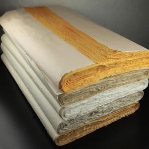 Image 2 - Chinese schilderen rijstpapier halve ruwe schets papier vier voeten kalligrafie schilderen Handgemaakte Verpakking papier 138*70 CM hoge kwaliteit