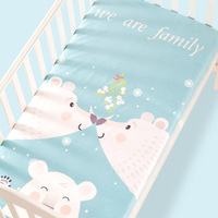 100% Cotton Crib Fitted Sheet Soft Baby Bed Mattress Cover Protector Cartoon Newborn Bedding For Cot Size 130*70cm