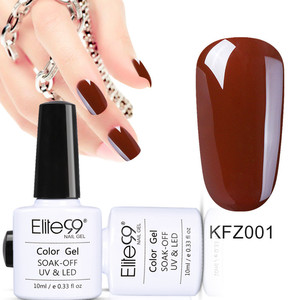 Image 4 - Elite99 10 ミリリットルネイルアートジェル純粋な色コーヒーブラウン 1 12 UV LED ネイルジェルポリッシュソークオフワニスラッカーの持続表面