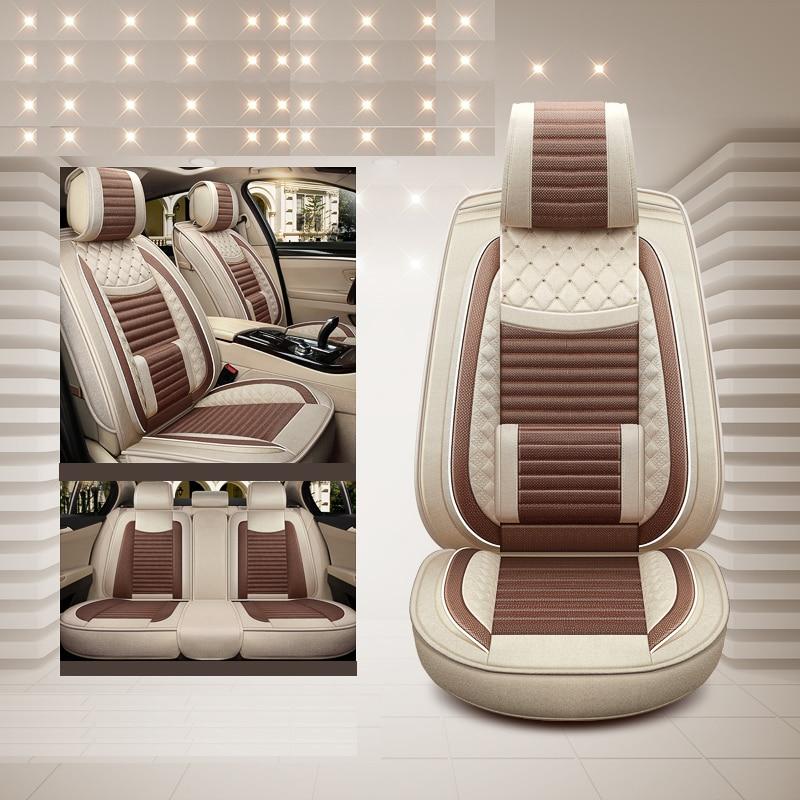 Luxury special flax car seat covers For toyota RAV4 PRADO Highlander COROLLA Camry Prius Reiz CROWN