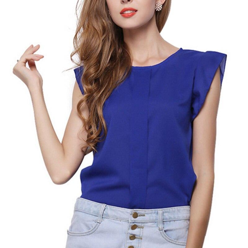 de La Moda de Manga Corta Mariposa Mujer Blusas Ropa Casual Camisa de La Gasa B