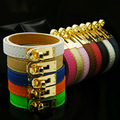 2017 new fine leather PU jewelry brand h bracelets bangles for women carter love bracelet bangle cuff punk bracelets