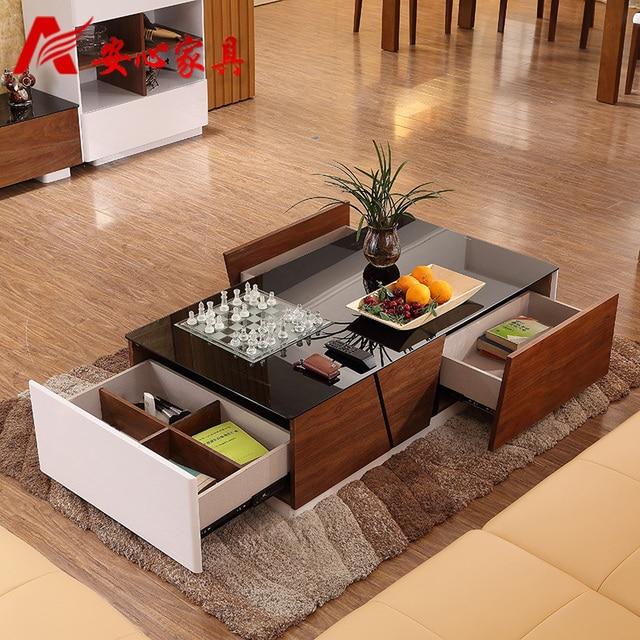 moderne woonkamer salontafel verf kleine appartement koffie creatieve ...