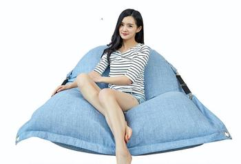 Factory 2016 new double lazy sofa Modern folding linen sofa bed,home room corner beanbag chair,indoor bean bag- COVER ONLY