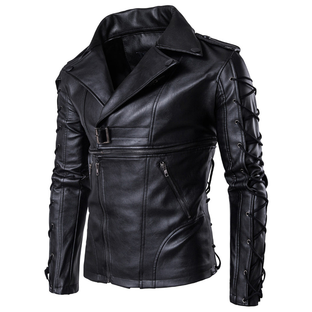 30aa410c1bb7 Spring Autumn Men Automotive Leather Jacket Streetwear Free Shipping  Imported Mens Biker Leather Jackets Overcoat Brand C1015