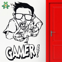 Video Game Sticker Play Gaming Posters Gamer Vinyl Wall Decals Parede Decor Mural Video Game Stickers