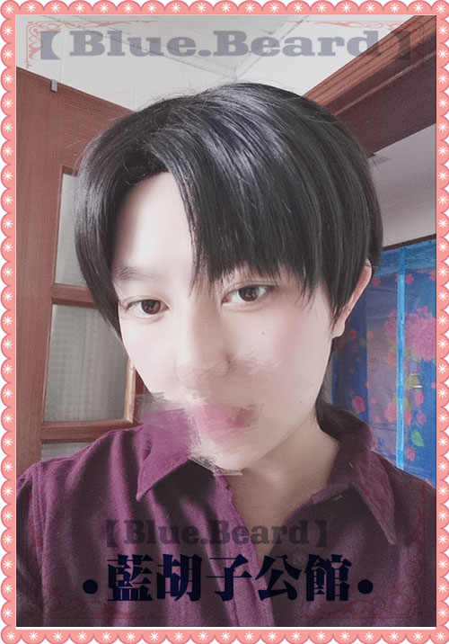 Style Attack on Titan Rivaille Levi Ackerman Heichov Cosplay Black Hair Wig Gifts