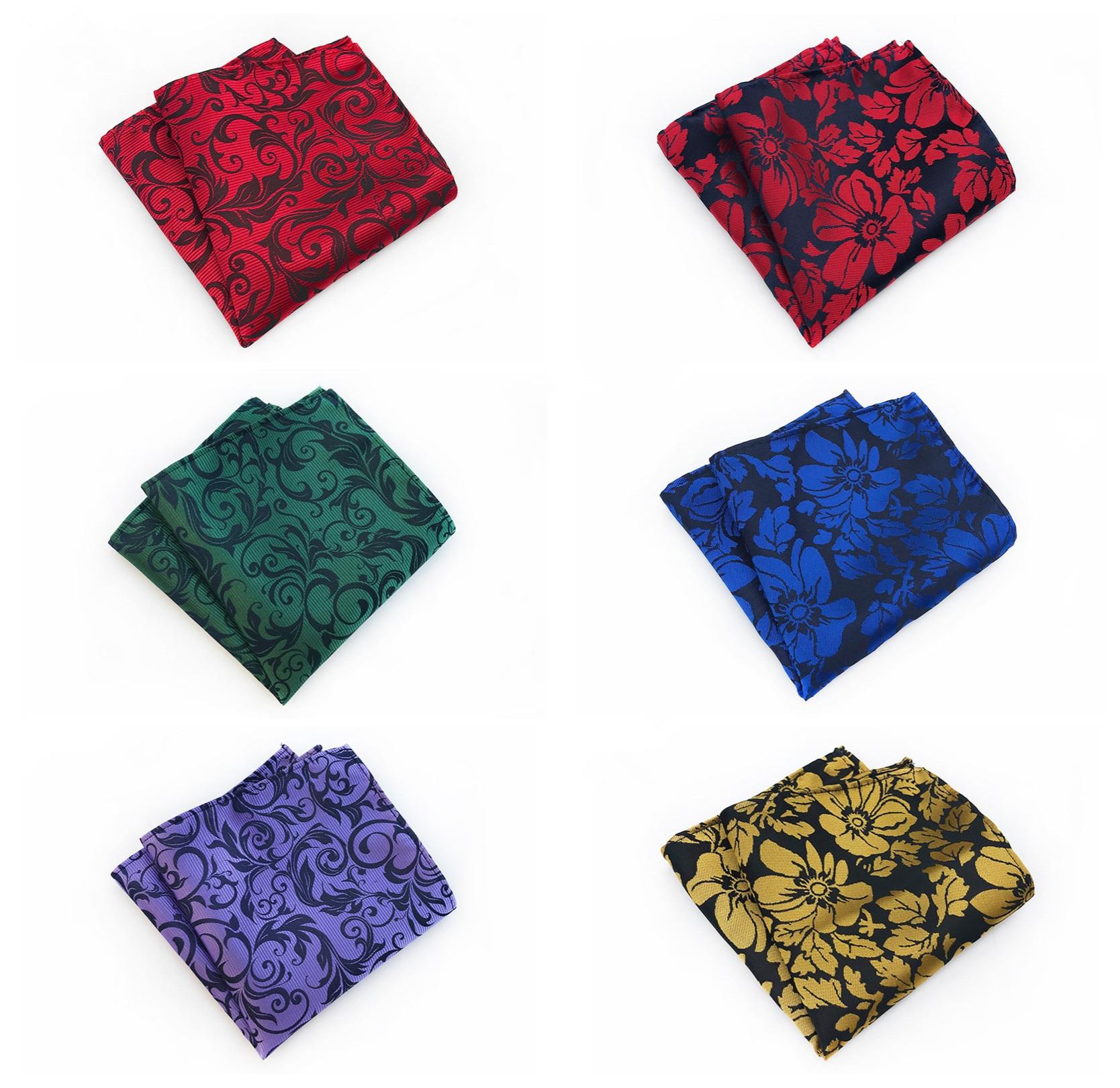 Unique Design High Quality Silk Polyester Paisley Floral Pocket Square Fashion Boutique Floral Men's Pocket Square Handkerchief
