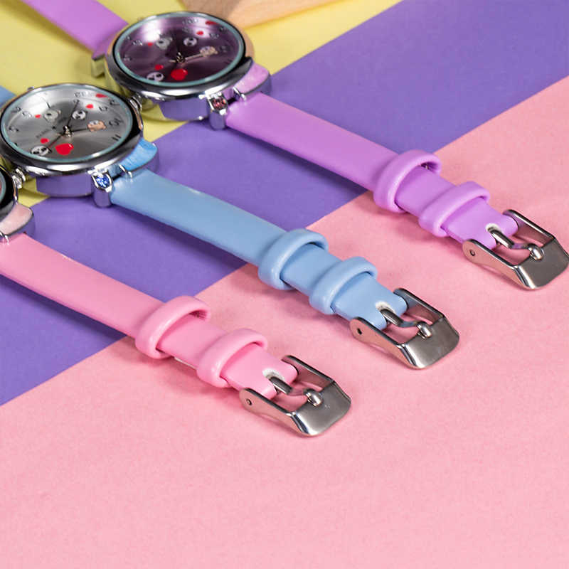KDM śliczne rysunek przedstawiający pandę dziecięce zegarki wodoodporne dzieci oglądać prawdziwej skóry dziecko pandy dzieci zegarek uczeń dziewczyna chłopiec zegar