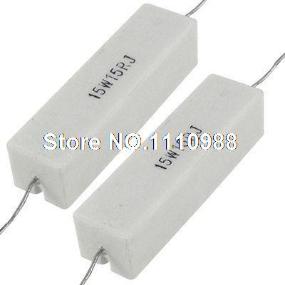 2x Axial Lead Ceramic Cement Power Resistor 15 Ohm 15W 15R 10pcs 5w 51r 51 ohm cement resistor