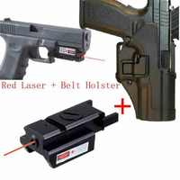 Hunting Top quality red Lasers Sight +Black hawk CQC Tactical Gun Holster Airsoft Holster Glock 17 18 19 23