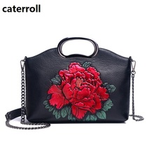 luxury handbags women bags designer shoulder bags embossed floral women handbag genuine leather crossbody bag недорого