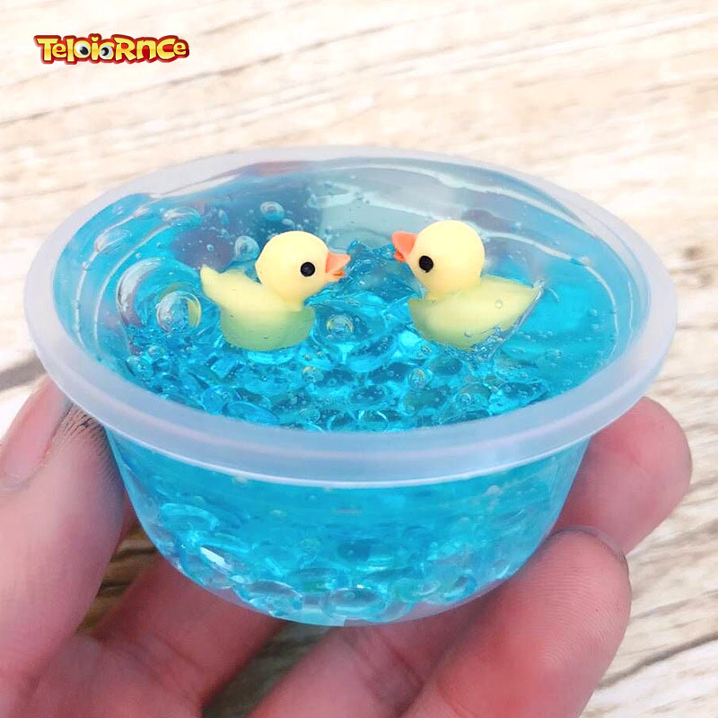 Modeling clay <font><b>slime</b></font> 60ml/100ml <font><b>Duck</b></font> Mud Mixing Cloud <font><b>Slime</b></font> Scented Stress Kids Clay Toy Kids Clay Relax Gifts image