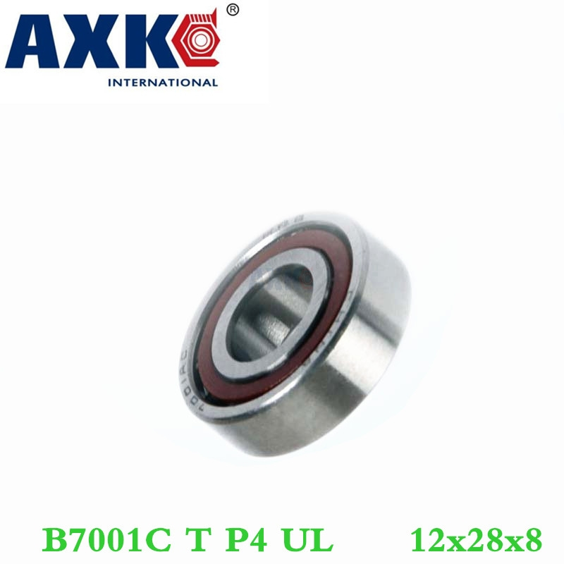 Axk 1pcs 7001 7001c B7001c T P4 Ul 12x28x8 Angular Contact Bearings Speed Spindle Bearings Cnc Abec-7 1pcs mochu 7207 7207c b7207c t p4 ul 35x72x17 angular contact bearings speed spindle bearings cnc abec 7