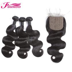 Перуанская волна 100% Remy человеческие волосы пучки с 5*5 закрытие бесплатная часть натуральный цвет 3 пучка с Чехол Бесплатная доставка