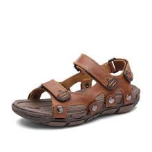 2016 men's leather sandals, summer sandals