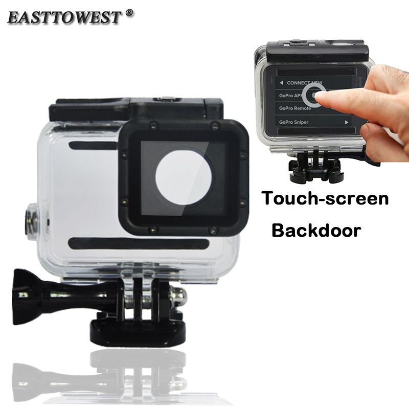 Gopro Hero 5 Accessories Waterproof Housing Case With Touch-Screen Backdoor and Un-touch-screen Backdoor For Gopro Hero 5