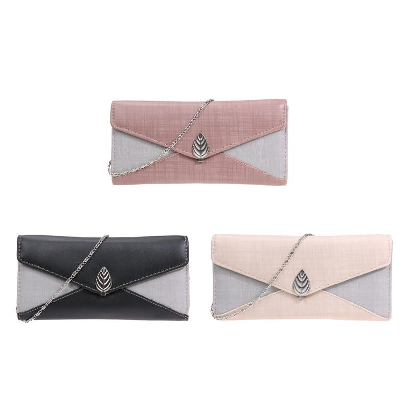 2018 Women Envelope Dollar Price Wallet Hit Color 3Fold Flowers Printing Zipper card PU Leather Wallet Long Ladies Clutch Coin