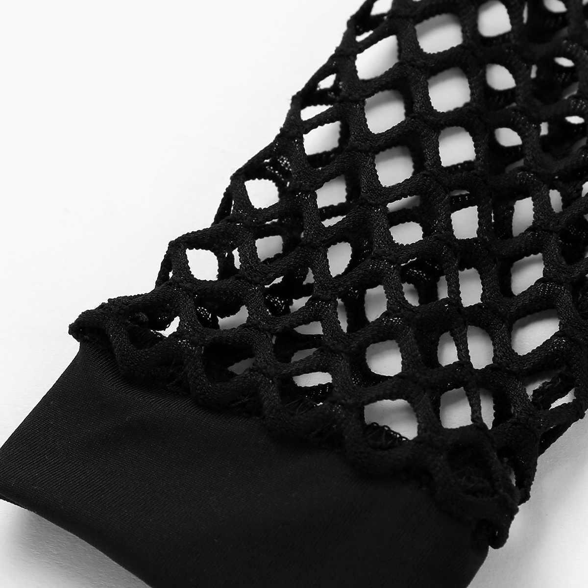 Iiniim, Женская пикантная Клубная одежда, ажурная, открытая, с открытыми плечами, прозрачная, облегающая, Коктейльные, вечерние, костюмы, мини-платье