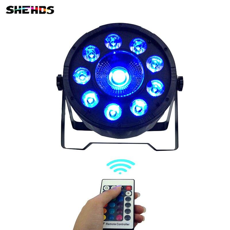 Controle remoto sem fio LEVOU Par 9x10W + 3N1 30W RGB LED Wash Luz Stage Uplighting No ruído de controle Remoto